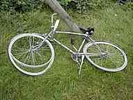 Fahrrad am Drosselweg
