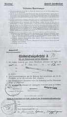 Einberufungsbefehl für Hermann Ostern