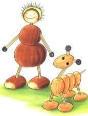 Im Herbst Kreatives Mit Kastanien