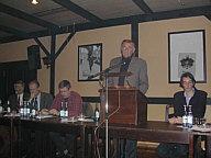 Das Podium v.l.n.r.: Paul Hatger, Martin Zeller, Hermann Coßmann, Hermann Schwarte, Jutta Engbers