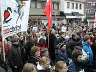 Auf der Friedenskundgebung in Meppen am 15.02.2003