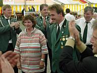 Schützenkönig 2003 Alois Timmer und Frau Marion