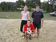 Die Siegermannschaft: Kathrin Richert, Antonius Hempen, Thomas Hermes
