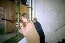 Alois Timmer und Johann Hempen beginnen das Kaiserschießen