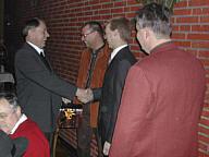 von rechts: Franz-Georg Holterhus, Renkenberge; Reinhard Hessling, Ahlen; Hermann Gerdes, Wippingen; Pastor Bolmer