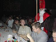 Der Nikolaus auf der Weihnachtsfeier der Schützenkapelle 2003