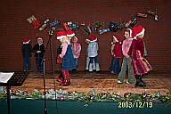 Auf der Weihnachtsfeier 2003