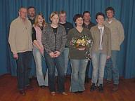 von links: Lambert Rehbock, Franz-Josef Hegerkamp, Christine Benten, Franziska Speller, Hermann Hempen, Irmgard Wolters, Josef Koers, Marlies Siemer, Severin Frericks