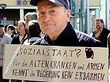 Auf der Demonstration am 3. April in Berlin