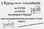 Flyer zum Volleyballturnier