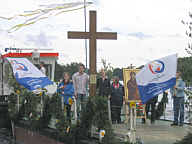 Weltjugendkreuz in Steinbild