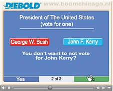 Wahlmaschine für US-Präsidentenwahl