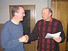 Hermann jansen mit Schießvereinsvorsitzendem Alex Ganseforth