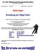Flugblatt zur Oldie Night