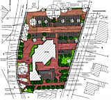 Gestaltungsentwurf zum Kirchenvorplatz der Gemeinde Wippingen