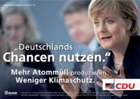 Verfremdetes Wahlplakat der CDU