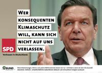 Verfremdetes Wahlplakat der SPD