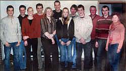 v. l.: Martin Düthmann, Hendrik Schmunkamp, Anna Schwering, Christoph Schwering, Elisabeth Speller, Gerd Schulte-Borchers, Kornelia Düthmann, Christian Wegmann, Andreas Klaas, Hermann Hackmann, Heinz-Hermann Gerdes, Ulla Ahlers