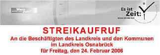 Streikaufruf Osnabrück