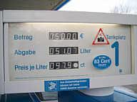 Benzin für 97,9 Cent