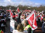 Streikende in Meppen