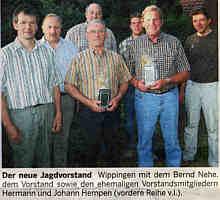 Der neue Jagdvorstand | Foto: EZ vom  25.07.06