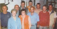 Der Vorstand des Heimatvereins Wippingen. Rechts der scheidende Gerd Hempen.| Foto aus der EZ v. 13.09.06, Frank Abheiden