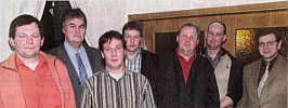 Zum Neuen Vorstand des Beratungsringes Emsland-Nord gehören (von links) Gerd Specker-Dünhöft, Franz-Georg Holterhus, Johannes Tangen, Helmut Hahnenkamp, Theo Staars, rainer Ficker und Karl Uhlenberg
