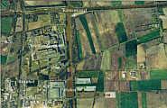 Auf dem mit einer grünen Linie markierten Gelände südlich des Küstenkanals soll das Kohlekraftwerk gebaut werden.