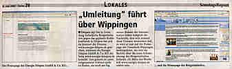 Die Bürgerinitiative weist auf hallo-Wippingen.de hin