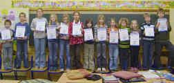 Schülerinnen und Schüler unserer 3. Klasse im Januar 2008