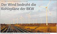 Der Wind bedroht die Kohlepläne der BKW