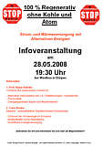 Flyer zur Info-Veranstaltung der BI am 28.05.2008