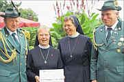 (von links): Alex Ganseforth, Engeline Lammers, Schwester M. Hannelore, Josef Speller