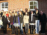 Am 16.10.08, hielten sich jetzt 18 Studierende mit ihrem Professor Dr. Lars Harden in Wippingen auf