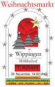 Plakat zum Weihnachtsmarkt in Wippingen