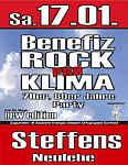 Plakat für Pro-Klima-Benefiz-Party im Steffens