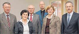 von links: Heinrich Gerdes, Hedwig und Hans-Georg Suchowk, Andreas Hövelmann, Jutta Reinhardt, Karl-Heinz Weber