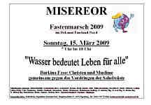 Plakat zum Fastenmarsch