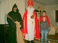 Der Nikolaus beim Hausbesuch in Wippingen
