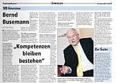 Interview mit bernd Busemann im SonntagsReport vom 10.01.2010