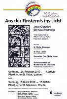Flyer zum Oratorium