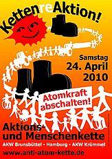 Plakat zur Menschenkette am 24.04.2010