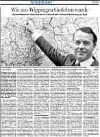 Ems-Zeitung mit Gorleben-Artikel
