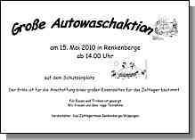 Flyer zur Autowaschaktion