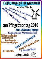 Flyer zum Frühlingsfest 2010
