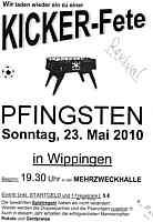 Flyer für Kickerturnier in Wippingen am Pfingstsonntag, den 23. Mai.