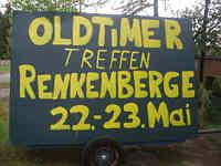 Werbeschild für das Oldtimertreffen in Renkenberge am 22.05.2010