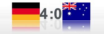 WM Spiel Deutschland Australien 4:0