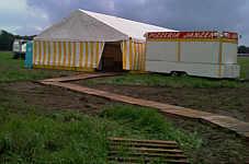 Zelt für Stoppelrock in Wippingen